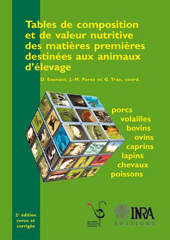 Tables de composition et de valeur nutritive des matières premières destinées aux animaux d'élevage -  - Inra