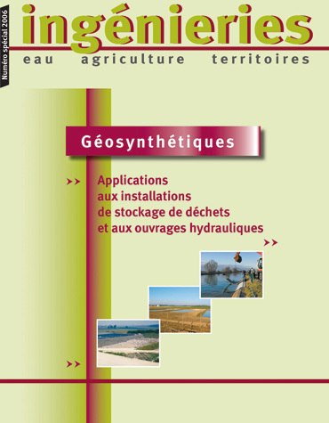 Geosynthetics - Landfill and Hydraulic Applications -  - Irstea