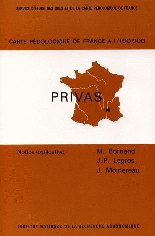 Soil Map of France, 1/100 000 - Michel Bornand, Jean-Paul Legros, Jacques Moinereau - Inra